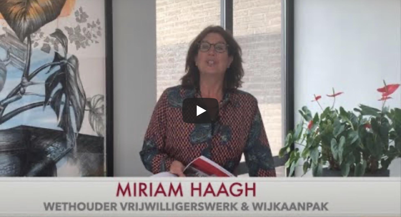 Miriam Haagh dankt wijk- en buurtcentra